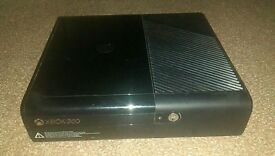 Xbox 360 with one controller and games plus a Turtle beach xbox 360 headset.