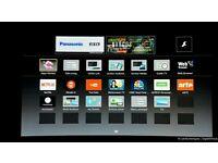 "Panasonic 32"" LED smart tv wifi built USB MEDIA PLAYER HD FREEVIEW and freesat full hd"