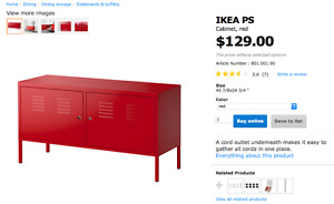 Red Ikea Cabinet