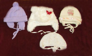 Baby girl winter hats, 9-12 months.