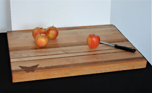 Extra Large Edge Grain Maple and Alder Cutting/Chopping Board