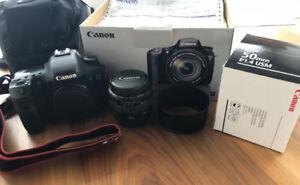 Canon EOS 7D EF-S 15-85 IS USM w/ EF 50mm f/1.4 USM Lens & Extra