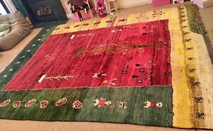 Tibetan 100% Wool Rug Huge! Hand-knotted One of a kind! 13.5x10!