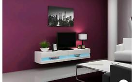 Rtv 180cm white TV unit brand new Rrp £130
