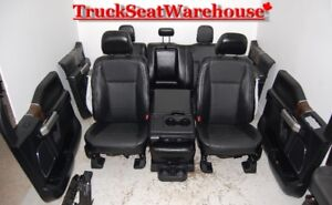 '16 Ford F150 BLACK LEATHER Interior Truck Seats Power Heat Cool