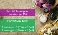 Swedish Massage / North / $50