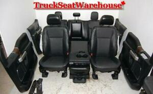 16 Ford F150 BLACK LEATHER Interior Truck Seats Power Heat Cool