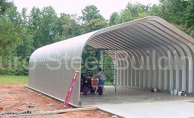 Durospan Steel 25x30x12 Metal Building Diy Home Kits Open Ends Factory Direct