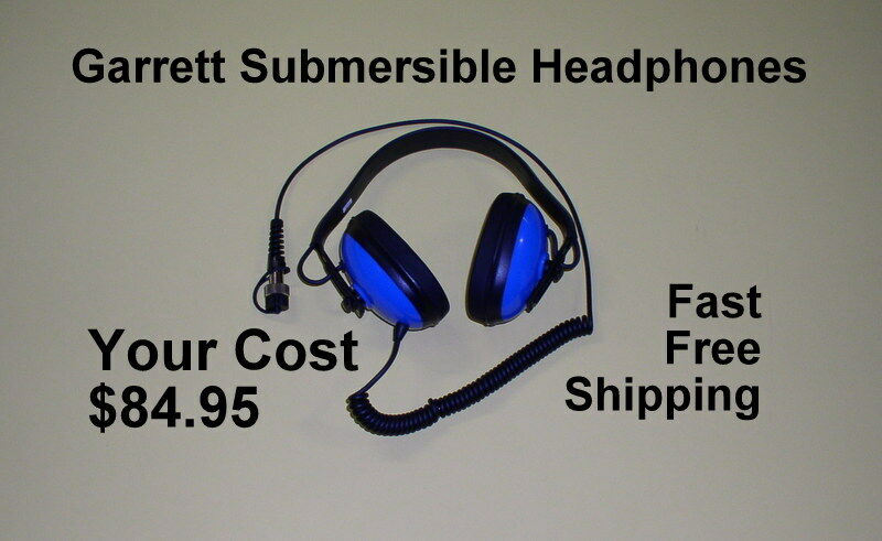 New Garrett Waterproof Headphones  For your AT Metal Detector Fast FREE Shipping