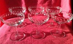 Vintage. 6 verres à vin en cristal. Signé France Gatineau Ottawa / Gatineau Area image 3