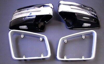 Spiegelgehäuse Chrom Schw. LED Blinker für Mercedes X204 GLK Rahmen lackierbar