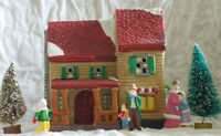 LIGHTED VICTORIAN CHRISTMAS VILLAGE (LOT)
