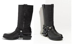 MIU MIU BLACK LEATHER BRAND NEW BOOTS - SIZE 5