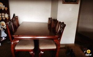 Dining room table plus six chairs