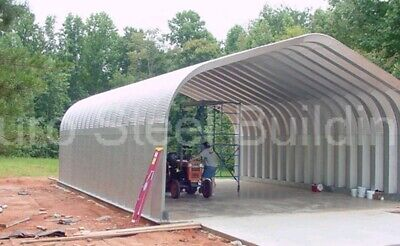 Durospan Steel 20x50x16 Metal Diy Home Building Kits Open Ends Factory Direct