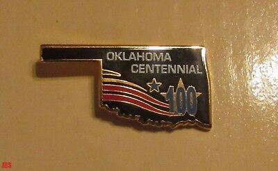 Oklahoma State Shaped Fair Centennial Pin  New in Unopened package 2007
