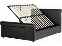 New 4ft6 double leather storages bed free delivery