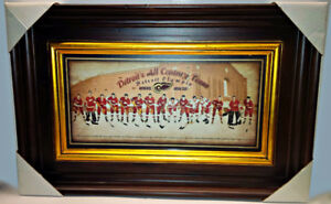 DETROIT RED WINGS ALL CENTURY TEAM W/ DETROIT OLYMPIA RES SEAT