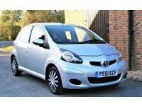 2011/61 TOYOTA AYGO ICE 5 DOOR. 32000 MILES. FULL HISTORY. SILVER.