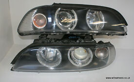 BMW E39 Refurbished Angel Eye Facelift Halo Ring Headlights M5 540i 535i 530d 530i 528i 525d