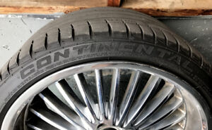 """19""""Nice Looking Rims and Tires, BMW X1, 3, 5 SERIES, CONTINENTAL"""