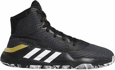 adidas Men's Pro Bounce 2019 Basketball Shoe, Black/White/Grey, 15 D(M) US