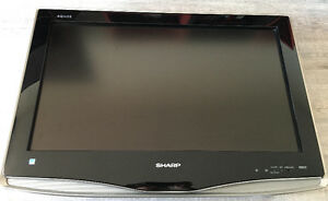 TV - Sharp Aquos LCD-HDTV 26 Inch with wall mount.