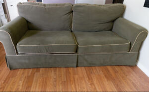 Olive Green Hide- A-Couch