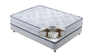 ORTHOPEDIC MATTRESSES + BED PLATFORM LEATHER WITH CHROME LEGS