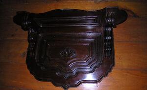 antique clock shelf