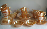 Lot of Vintage Fire King Peach Lustre Dishes - 21 Beautiful Pcs