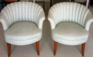 2 Fluted Wing Chairs