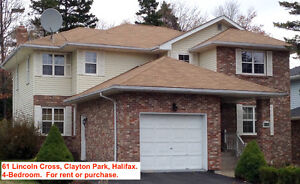 61 Lincoln Cross Home in Clayton Park for Rent or Purchase