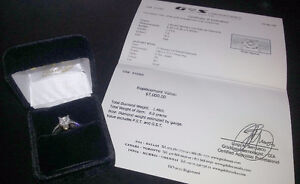 Lady's 14kt. White Gold Engagement Ring  1.46ct.