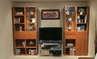 TWO WALL UNITS WITH DISPLAY CABINETS