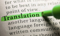 Translation, rewriting,  revision in English  and French