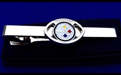 Pittsburgh Steelers Tie Clip NFL Logo Tie Clasp Gift Idea