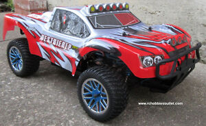 New RC Truck Brushless Electric Short Course LIPO 4WD 1Yr Warr.