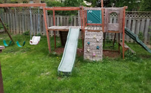 Play set swing and slide