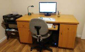 All Wood Construction Office Desk