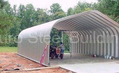 Durospan Steel 32x50x18 Metal Garage Shop Man Cave Building Kit Open Ends Direct