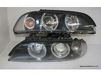BMW E39 Refurbished Angel Eye Facelift Headlights Cheapest in UK M5 530d 530i M Sport 520i 525i 540i