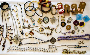 Vintage Jewelry Estate Lot Mixed 925 Marked Costume 59 Pieces