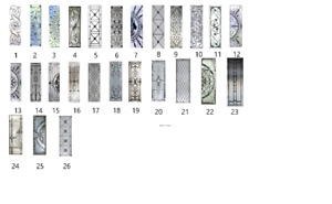 Door glass inserts decorative glass privacy glass wrought iron