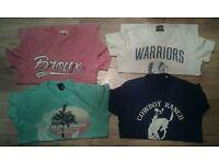 men's jack Jones and river island t-shirts