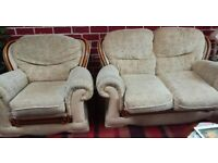 Loveseat and armchair