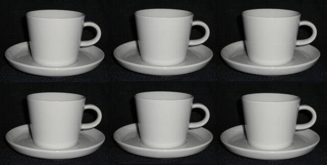Arzberg Porcelain Cucina Basic White Coffee Mug 2 Pc Set Of 6