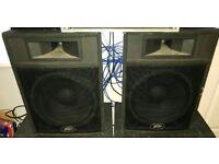 "2 x 15"" peavey messenger pro speakers"