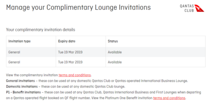 2 X Digital Qantas Lounge Invitation