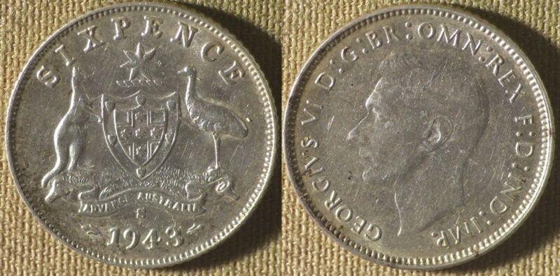 Australia : 1943(S) Sixpence CH.AU-UNC #38 IR9366